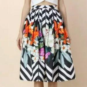 Chicwish Zig Zag Midi Skirt